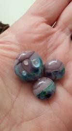 Set van 3 stuks paars bonte lentils