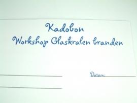 Kadobon Workshop Glaskralen Branden