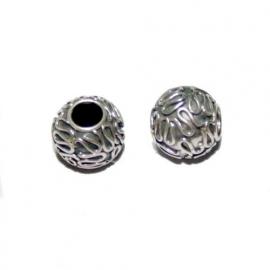 Zilveren grootgatkraal met gekringeld wire BD0830