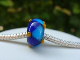Harlekijn grootgatkraal kobaltblauw met turqoise