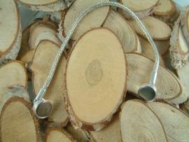 Zilveren armband met schroefsysteem en magneetsluiting