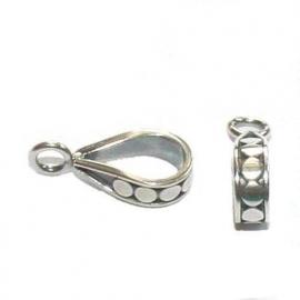 Ovale zilveren grootgatkraal met oogje, Armadillo stijl,  CH5030