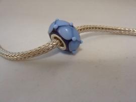 Lichtblauwe harlekijn grootgatkraal met zilveren kern