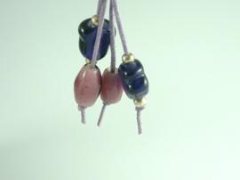 Sleutelhanger zwart roze lila