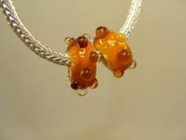 Set van 2 stuks grootgatkralen amber