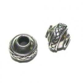 Zilveren grootgatkraal met gevlochten rand, BD 0560