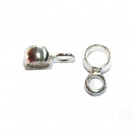 Zilveren kraal met bevestigingsoogje voor bedel CH5015