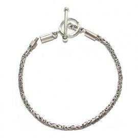 Zilveren armband met schroefsysteem BBA27