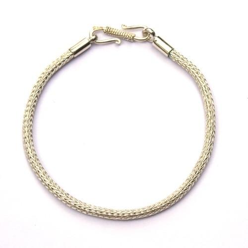 Zilveren armband, Tulang Naga, glanzend