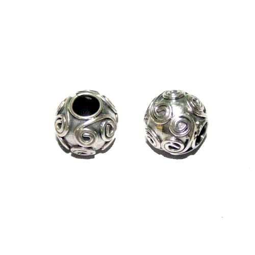 Zilveren grootgatkraal met dik rond wire  BD0820