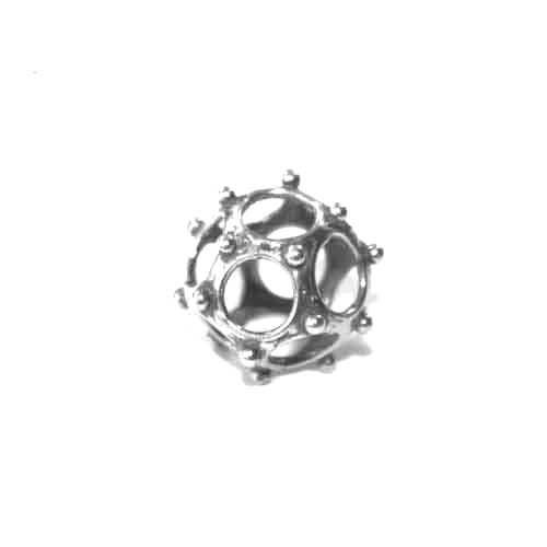 Zilveren opengewerkte kraal BD0370