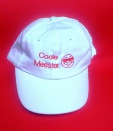 """Cap """"Coole Meester"""" (met smiley)"""