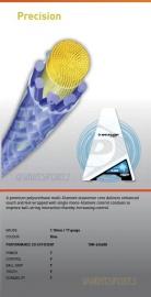 Dunlop Precision squash 1.18 - blauw (set 12m)