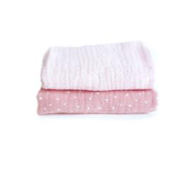 Spuugdoekje Roze / Roze met stip