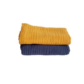 Spuugdoekjes Oker / Jeansblauw