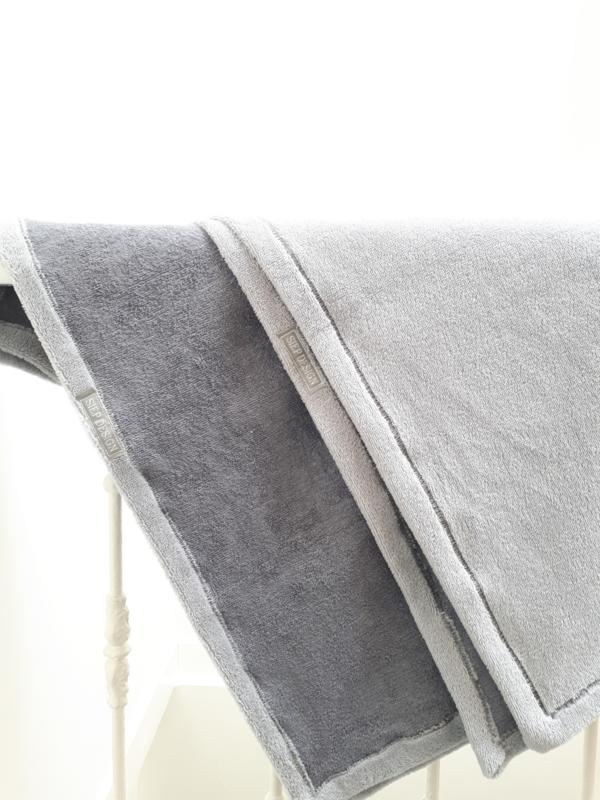 Bamboe fleece wiegdeken zilvergrijs
