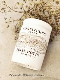French Felix pot    Confiture pot     PARIS