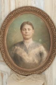 Antiek pastel portret