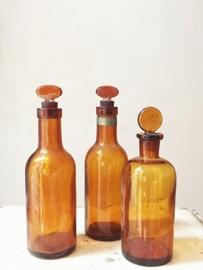 Setje antieke franse flesjes/ Set antique french bottles