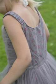 AANBIEDING   Flower child - dress plum