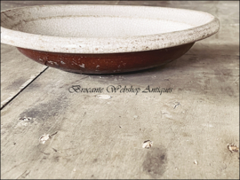 Antiek franse schaal/bord frans aardewerk