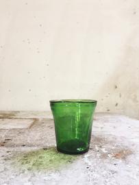 Antiek waxine glaasje
