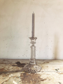 French glass candlestick