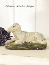 Old french plaster sheep