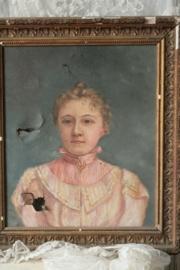 Antiek frans damesportret VERKOCHT