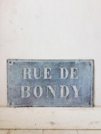 Frans straatnaam bord