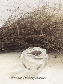 Kristallen roos/ waxine houder