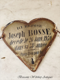 French enamel heart