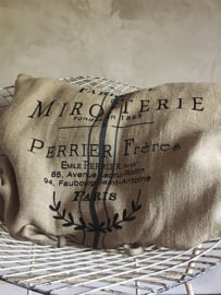 Cushion Miroiterie  Heavy linen Jeanne d`Arc Living