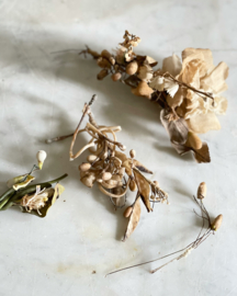 Set of small wax flowers/ corsages
