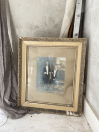 Old french frame with 2 french boys