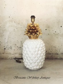 Mid - Century Maison-Lancel Ananas tafel lamp keramiek