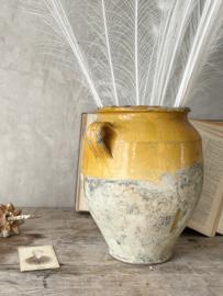 Zuid franse XL gele confit pot