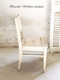 French wooden old chair