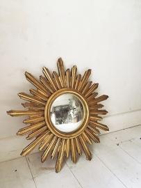 Antieke zonnespiegel/ Antique french sun mirror