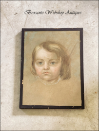 Small french pastel portrait
