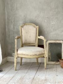 Antique French fauteuil Louis XVI