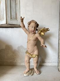 Antique XXL size Italian angel/putti