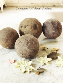 Set of antique wooden balls