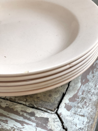 Set of 6 pale pink french dishes