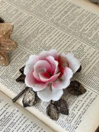 Biscuit porcelain rose