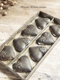 Chocolate mold hearts