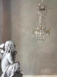 Antieke Franse kristallen kroonluchter zakluchter sac a perles