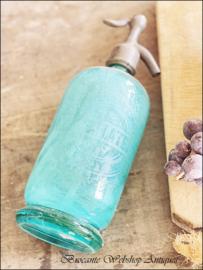 Oude franse spuitfles/ soda fles