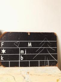 Swedish chalkboard