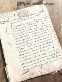 Antiek document/briefwerk
